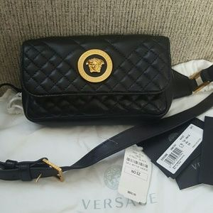 Versace icon tribute quilted leather belt bag